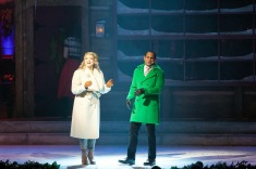 "Madison Paige Buck and Randy Jeter sing ""Here Comes Santa Claus"""