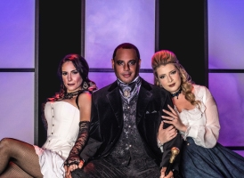 (Left to Right) Molly Grace B as Lucy, Randy Jeter as Jekyll/Hyde, and Madison Paige Buck as Emma Carew